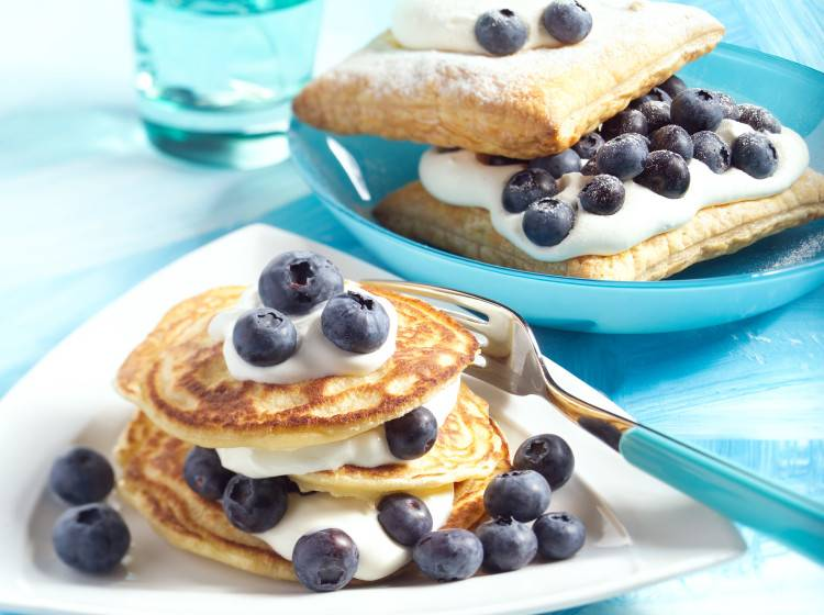 Blueberry blini's